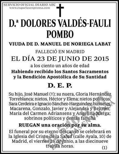 Dolores Valdés-Fauti Pombo